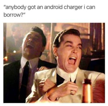iPhone Charger meme Suggestion Buddy