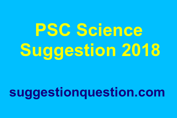 PSC Science Suggestion 2019