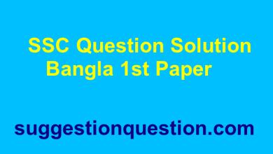 SSC Bangla 1st Paper Question Solution 2019