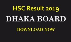 HSC Result 2019 Marksheet Dhaka Board
