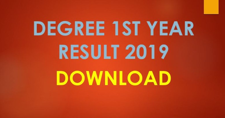 National University Degree 1st Year Result 2019
