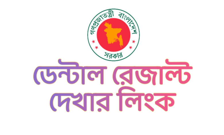 BDS Result 2021 dghs.gov.bd Result 2021