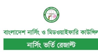 Nursing Result 2021 PDF www.bnmc.gov.bd Result 2021