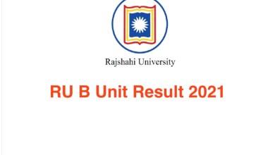 RU B Unit Result 2021 Rajshahi University Admission 2020-21
