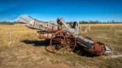 Old farm harvester
