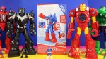 【犬猫動物動画まとめ】Playskool Captain America Mech Armor Rescues Super Dog And Superman Robot From Giant Sandman