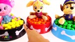【犬猫動物動画まとめ】Poppy Trolls & Paw Patrol Dog Food Bowl Full of Magical Gumballs