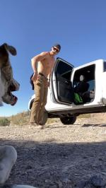 【犬猫動物動画まとめ】Guy Demonstrates How to Get Into Truck to His Dog