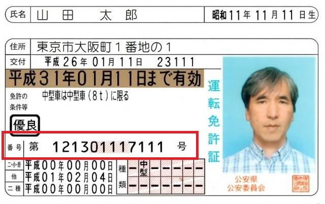 免許証の番号の秘密