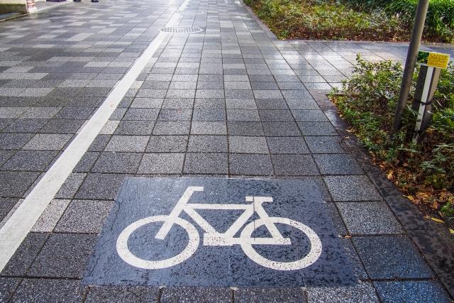 歩道は自転車専用通路