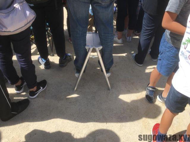 脚立と運動会
