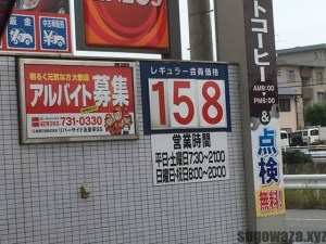 ガソリンの価格