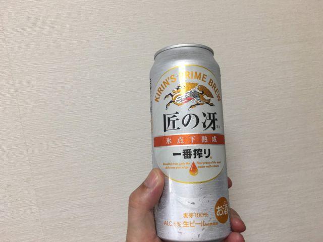缶ビールと生ビール
