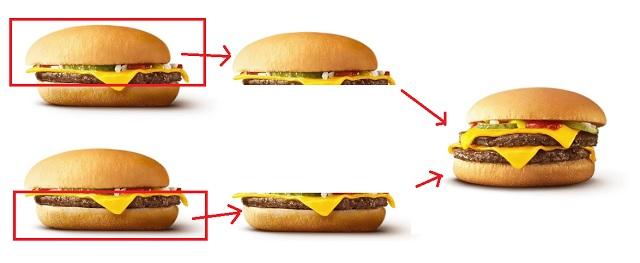 2つのチーズバーガー