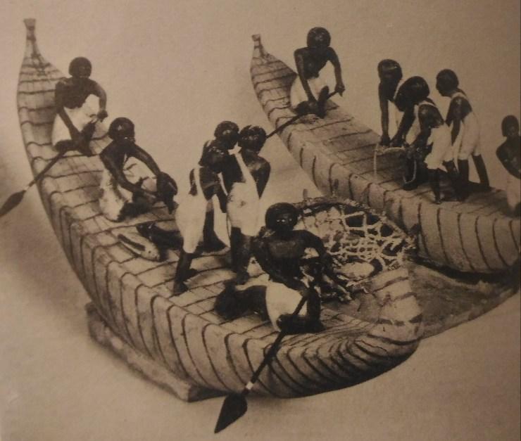 パピラス型 ボートモデル 水中考古学 エジプト