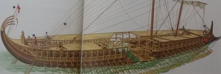 水中考古学 トライリム 三段櫂船 1