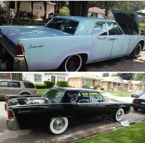 Black 61 Lincoln Continental For Sale