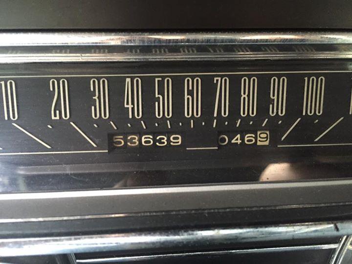 1965 Lincoln Continental odometer