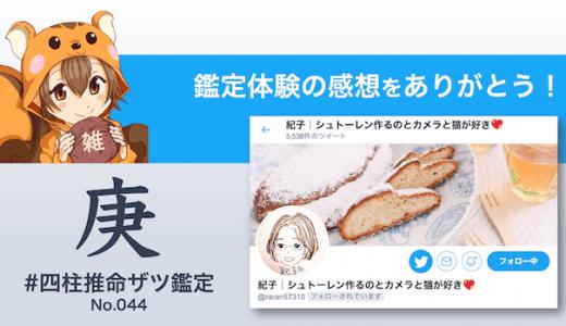 ザツ鑑定044|紀子さん(感想)