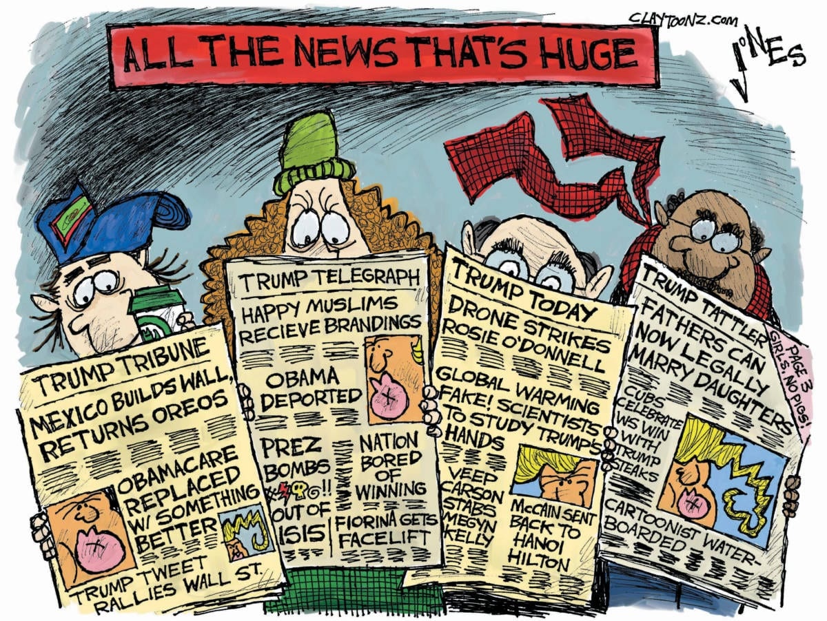 Image result for cartoons on fake news