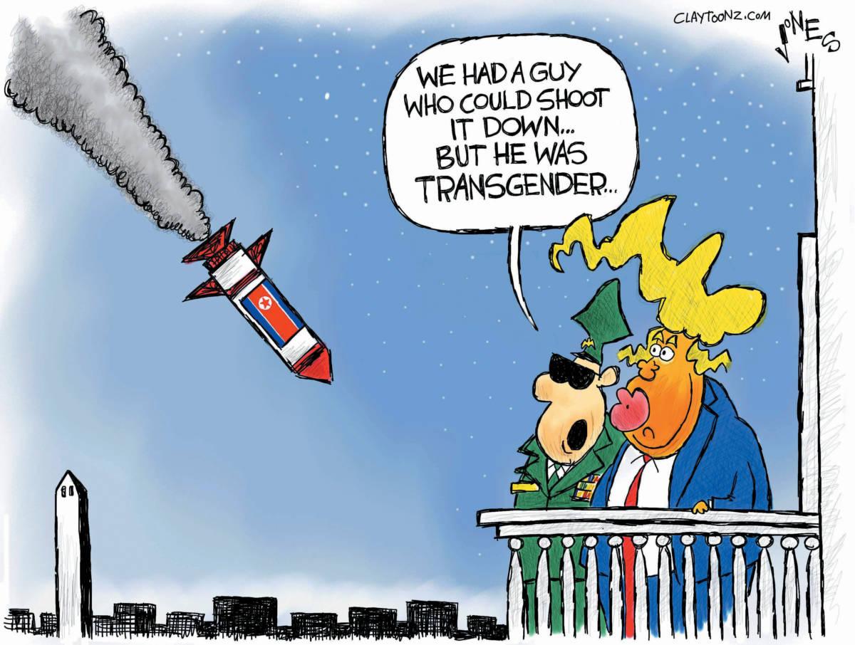 Cartoon North Korea Missile
