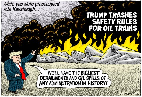 Trump Trashes Oil Train Safety Rules, Wolverton, Petroleum, Oil, Obama, Safety Rules, Railroads, Trains, Braking, Tank Cars, Derailment, Spills, Department of Transportation