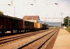 CH - CFF, train de marchandises à Gland