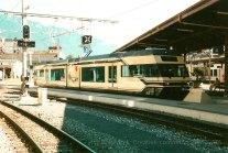 CH - MOB, automotrice série 7000 à Montreux