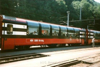 CH - CFF (actuellement zb), voiture panoramique de la ligne du Brünig