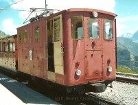 CH - SPB, He 2/2 dans l'ancienne livrée brune à éa Schynigge Platte