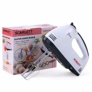 Scarlett Hand Mixer Machine Super 7 Speed Hand Mixer