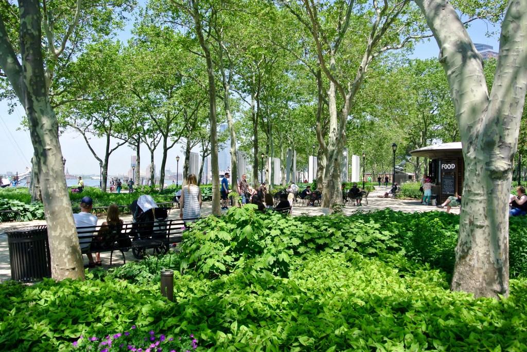 Battery Park in Manhattan.