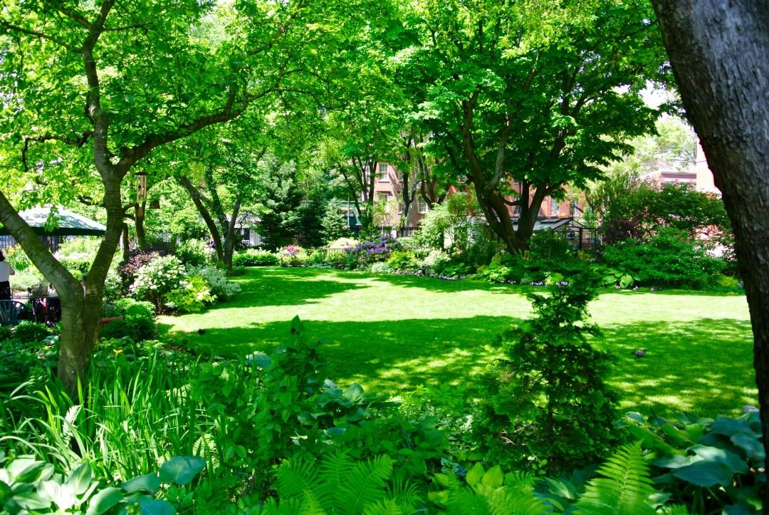 Jefferson Park Garden in Greenwich Village, New York City.