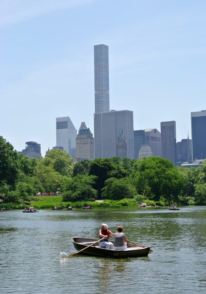 The lake in Central Park, New York.