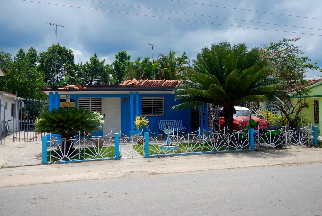 Street view of our casa, homestay, in Vinales.