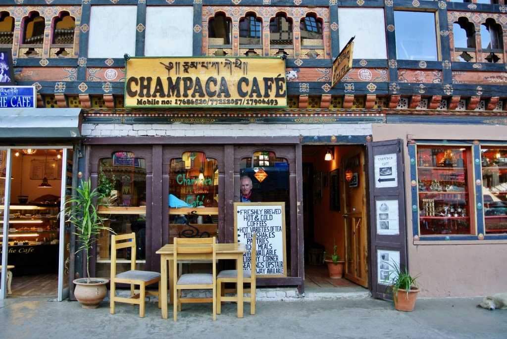 You can get good coffee and cakes at the Champaca Cafe in the main street of Paro.