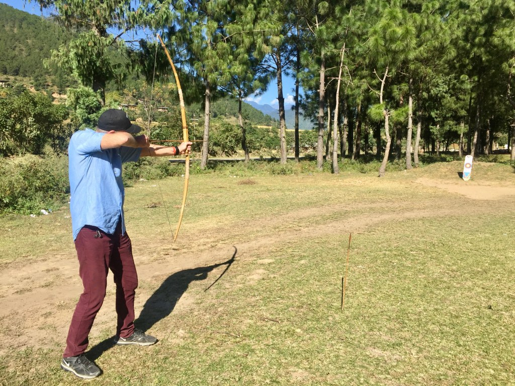 Try your hand at archery, Bhutan's national sport.