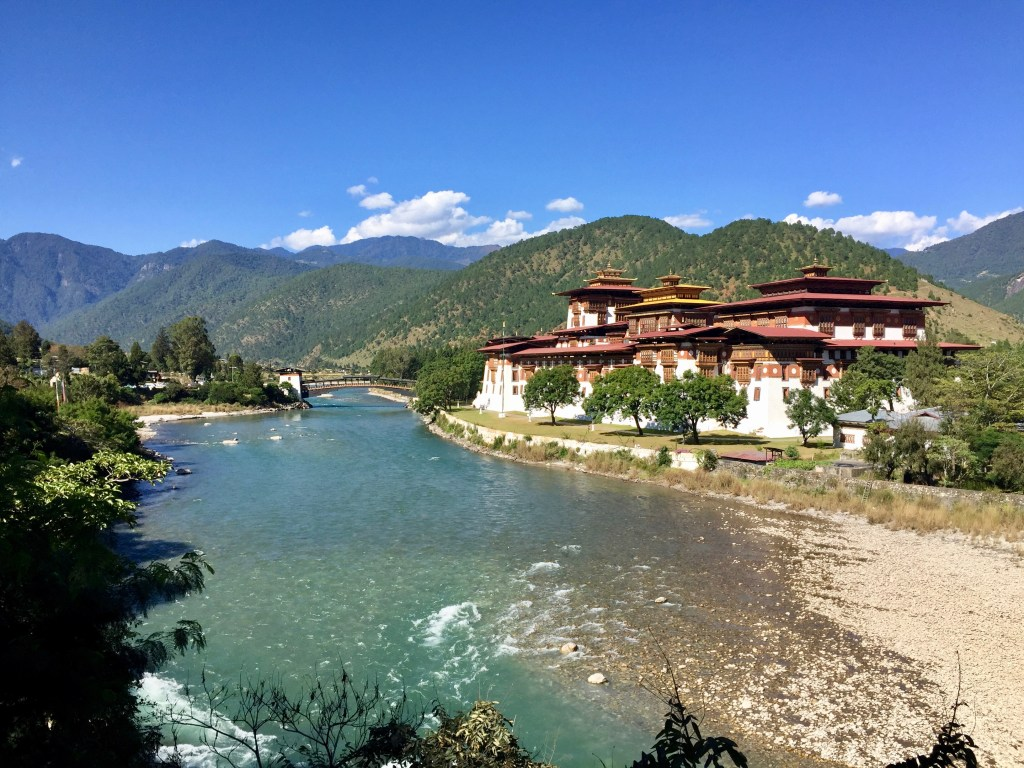 The Punakha dzong, the most stunning in all of Bhutan.