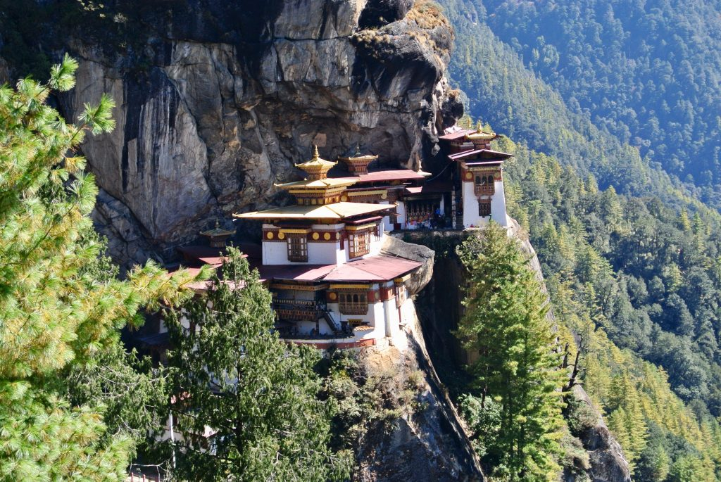 The stunning Tiger's Nest Monastery sits high on a sheer cliff and is a steep 2-3 hour trek to the top.