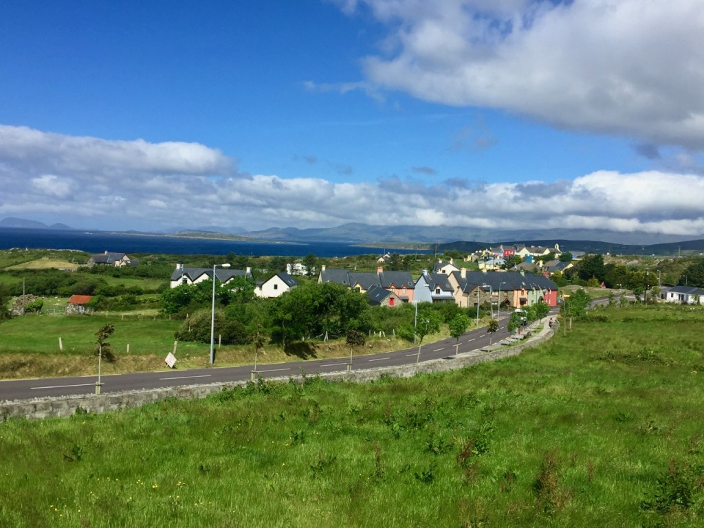 Beautiful village and coastal views along the Ring of Beara bike ride in Ireland.