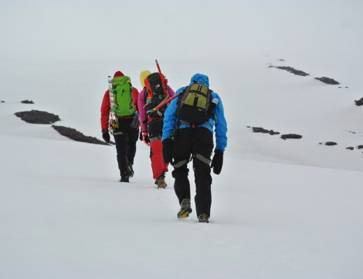 Hiking up the famous Snaefellsjokull glacier in West Iceland.
