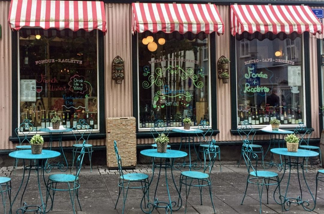 A restaurant in the main street of Reykjavik.