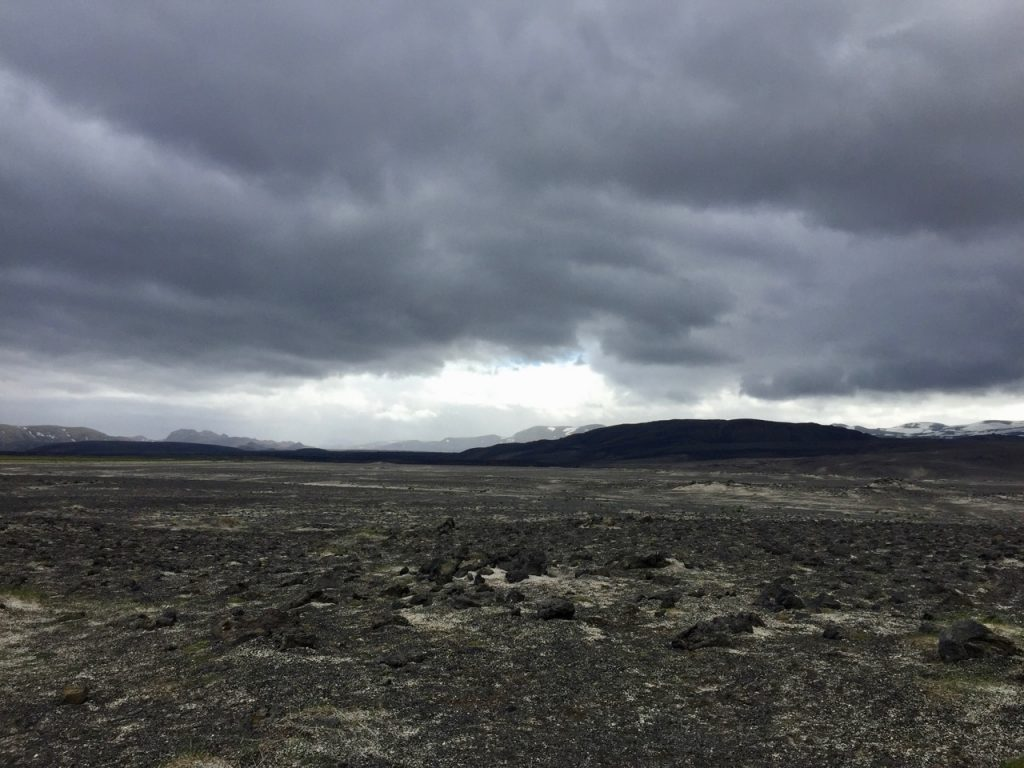 The eerie looking landscape around the Hekla volcano.