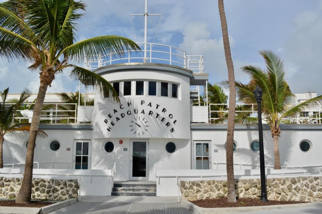 The beautiful Art Deco South Beach Miami surf patrol headquarters