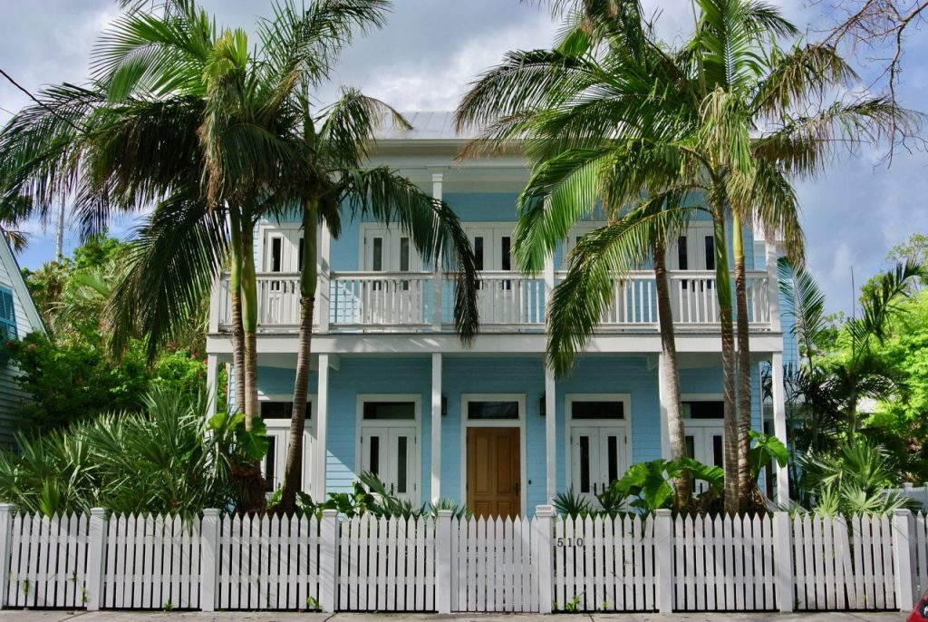 Admire the beautiful, historic mansions in Key West.