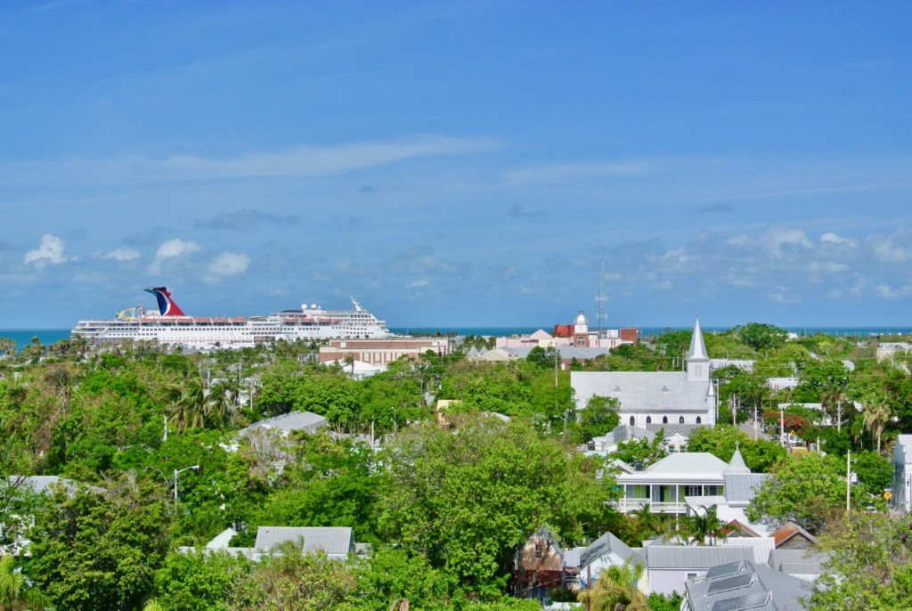 You get panoramic views of the whole island at the top of the Key West lighthouse.