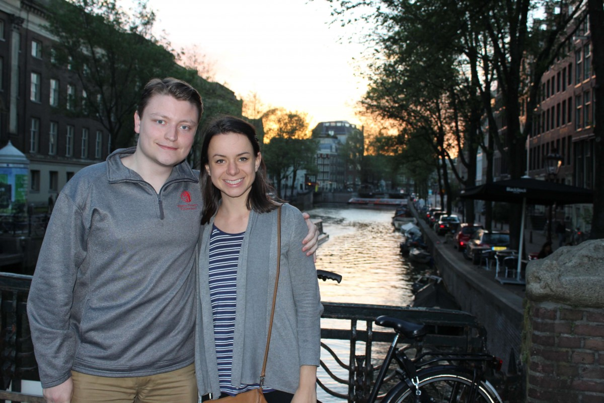 Tahvi and Dylan in Amsterdam