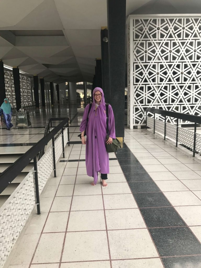 Suitcase Six national-mosque-robe-768x1024 3 Days in Kuala Lampur: My Malaysia Itinerary