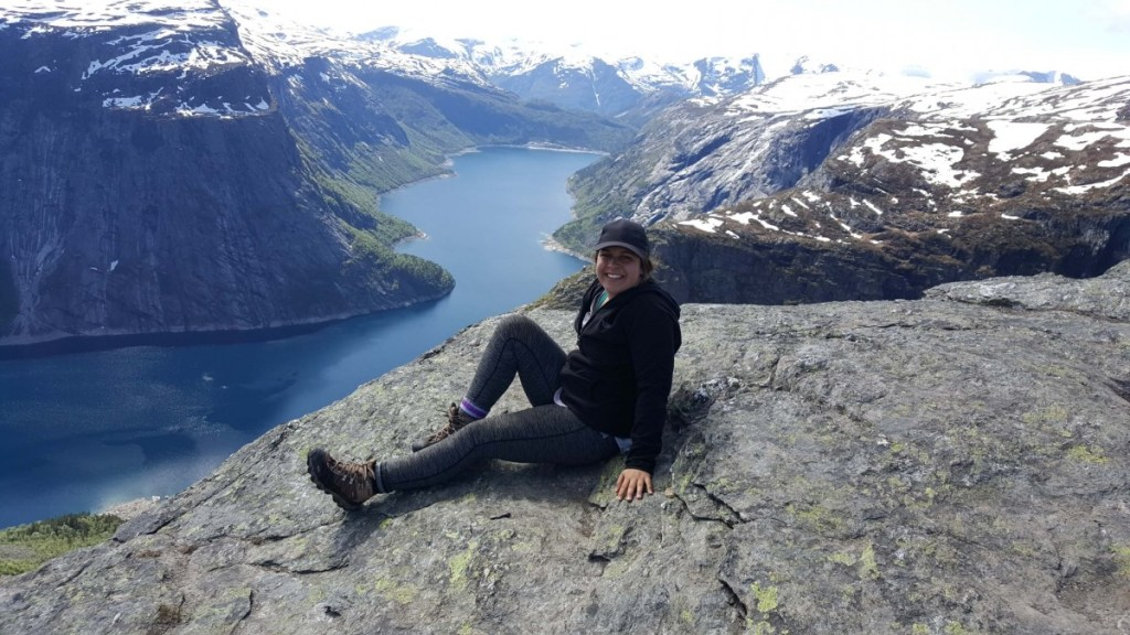 abbey on trolltunga rock in norway