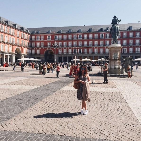 Suitcase Six Kate-Madrid-Spain-Plaza-Mayor Woman of the Week: Kate